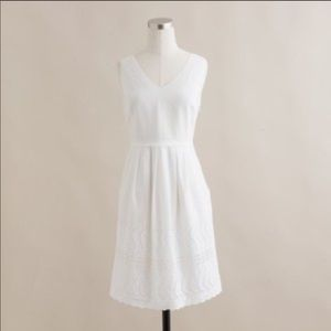 NWT J Crew Delaney White Eyelet Summer Dress 8